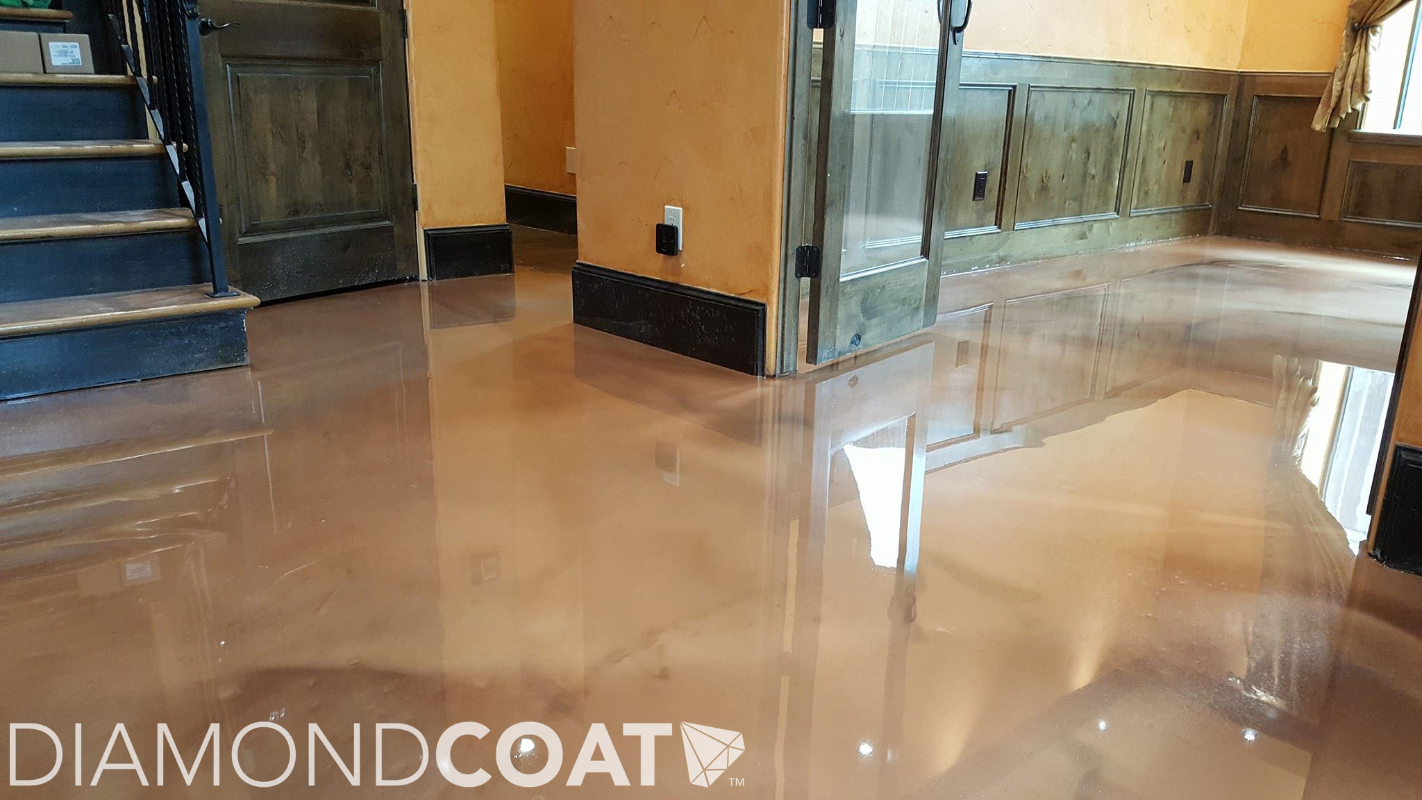 Epoxy is an extremely durable flooring material. Traditionally epoxy has been used in the garage and has only recently been introduced into the home.